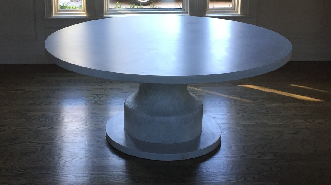 One of the best things about concrete is that you can make concrete tables fully customizable!